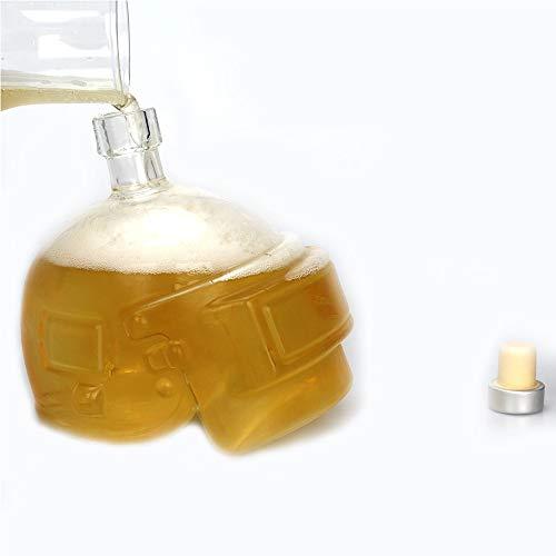 OSAYES Creative Calavera de Cristal de Vidrio Multi - propósito Whisky decantadores decantador Creativo de 550 ml / 18 oz Botella de Vodka