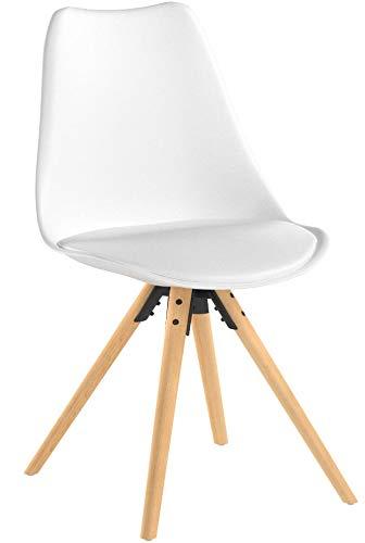Silla Nórdica (Pack 4) - Silla scandi Blanca - silla nordic escandinava inspirada en silla eames dsw - Topic -...