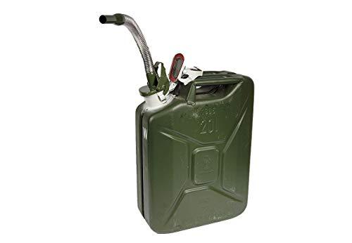 Unbekannt Set Bundeswehr Kanister 20L Oliv und Einfüllstutzen neuwertig Wasserkanister Benzinkanister