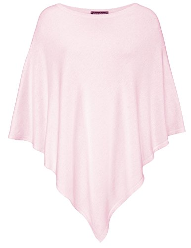Women's Poncho with Cotton by Kurt Kölln ★ Stylish All-rounder/ High Quality ❤ Perfect Alternative to your Pullover / Jumper / Sweater / Jacket / Cardigan / Knitwear - baby pink