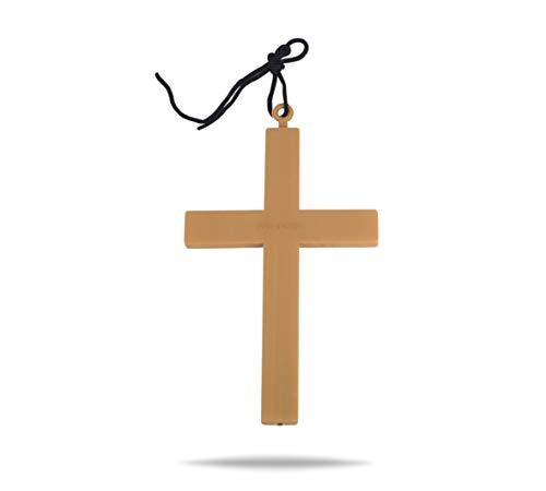 TK Gruppe Timo Klingler Kreuz Kette Halskette XXL Kreuzanhänger für Fasching und Karneval als Accessoires zum Kostüm Damen & Herren wie Nonne, Pfarrer, Mönch, Priester (Mönch Priester Kostüm)