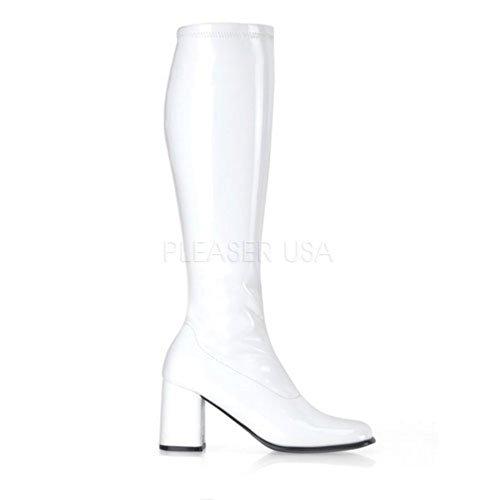 Pleaser Gogo300/w, Bottes Femme Blanc Brillant