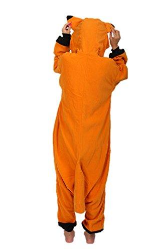 wotogold Tier Fuchs Pyjama Unisex Erwachsene Cosplay Kostüme Dunkelgelb