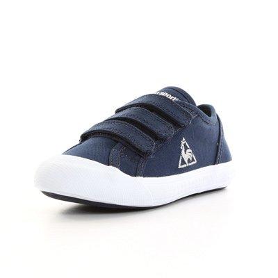 Le Coq Sportif Deauville plus chronic ps strap jr 1111350, Baskets Mode Enfant Bleu marine, blanc et argent
