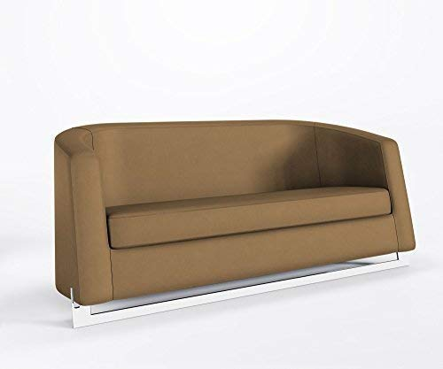 Ruhesofa NOBLE C Clubsofa Loungesofa Bürocouch Step Polster Kunstleder VALENCIA, Farbe:V0034 - Taupe