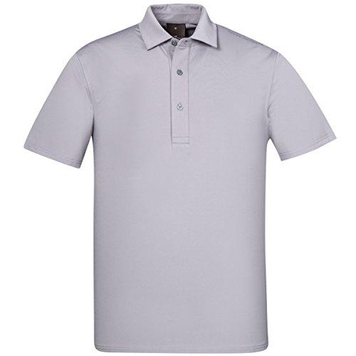 Oscar Jacobson Golf Herren Chap Course-Polo-Hemd - Light Zinc Grau - XL (Herren Chaps Polo)