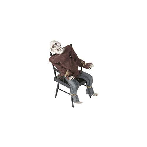 Generique - Animierte Halloween-Dekoration Mann auf elektrischem Stuhl, 30 cm