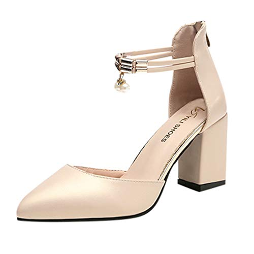 Qmber Damen Pumps Leaf Flame High Heel Schuhe Peep Toe Sandalen Block Party offene Zehen Schuhe Scharfer rückseitiger Reißverschluss Zipper/Gold,37 -