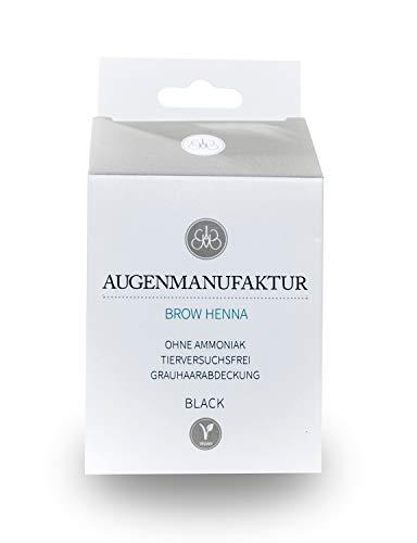 Augenmanufaktur Brow Henna Farbe Schwarz - Augenbrauen natürlich färben
