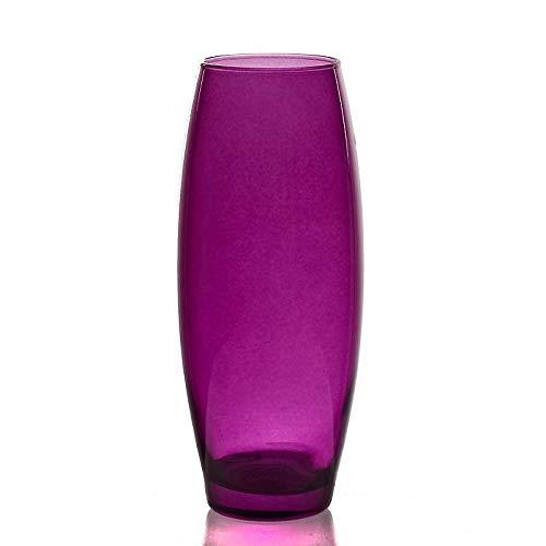 CRISTALICA Vase Blumenvase Blütenvase Rainbow Lila H 26,5 cm (German Crystal Tischvase Tischdeko Hochzeitdeko