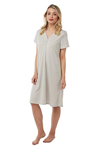 CAMILLE Womens Maternity Nightdresses 54/56 Oatmeal