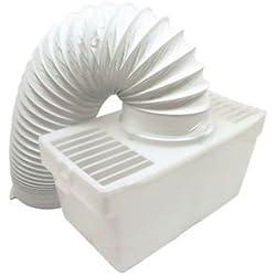 LAZER ELECTRICS Kit Universel pour sèche Linge d'intérieur Aération avec Flexible Blanc
