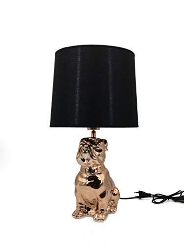 Moycor Tian Lámpara, diseño perro, Cobre y negro