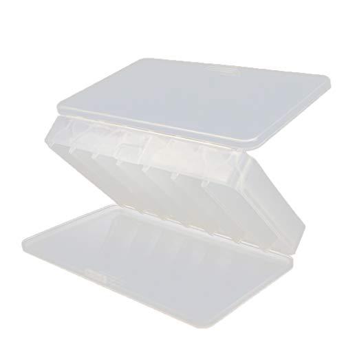 Meisijia Kunststoff-Köder-Aufbewahrungsbehälter Tragbarer Doppelseitige Fischköder-Organisator-Fall im Freien Angeltaue -