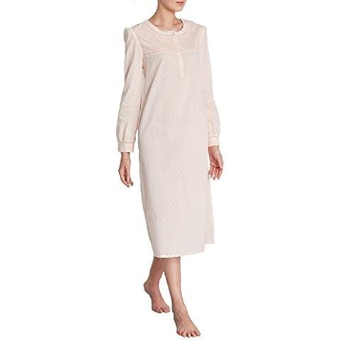 Louise Marnay Donna Camicia Da Notte In Voile Di Cotone Ricamato Taglia 60 (Big Sleepwear Alto)