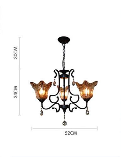 ergie Sparen Europäischen Stil Eisen Cognac Farbe Kristallglas Schatten Kerzenhalter Wohnzimmer Restaurant Schlafzimmer Kerzenhalter - Mode -1 Licht (Größe: 52 cm) ()