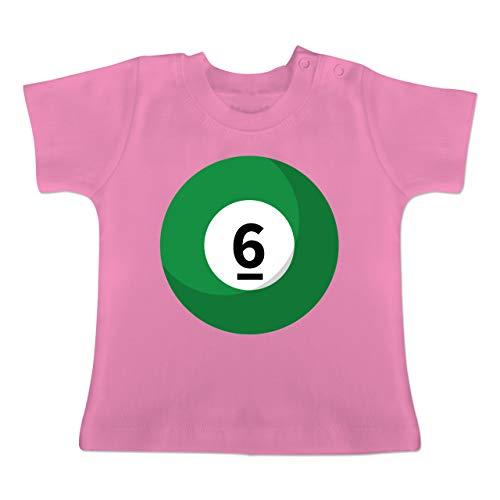 g Baby - Billardkugel 6 Kostüm - 1-3 Monate - Pink - BZ02 - Baby T-Shirt Kurzarm ()
