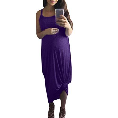 Allence Damen Umstandskleid Umstandsmoden Schwangerschaftskleider Maternity Kleid Sommer Kleid Stillkleid Stillnachthmd Ärmellos