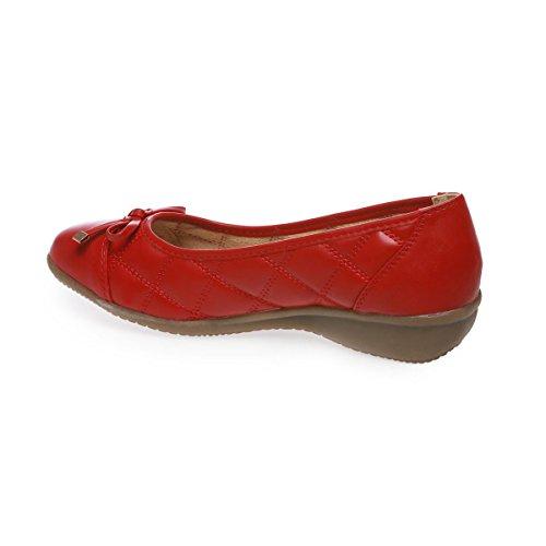 Ballerine Fashionista La Aspetto Rosso Trapuntata Moglie Ew1Ww6aq