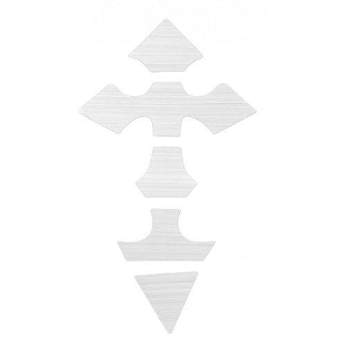 ass-Kreuz Dekoration Ornament-Führer Hals Griffbrett-Aufkleber-Silber-Ton ()