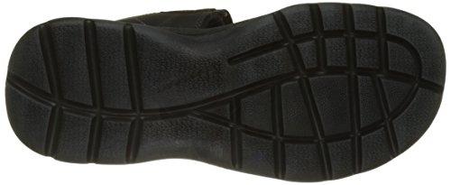 Rockport Herren Get Your Kicks Double Velcro Sandalen Schwarz (Schwarzes Leder)