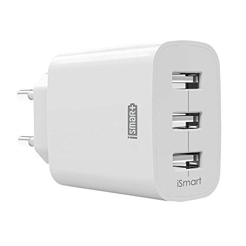 USB Ladegerät RAVPower 3-Port 30W 6A Ladeadapter mit iSmart Technologie für iPhone X/8/8 Plus, Galaxy S9/S9 Plus/S8/S8 Plus/Note, iPad, Sony, HTC, Motorola, LG und weitere, - Netzteil S9