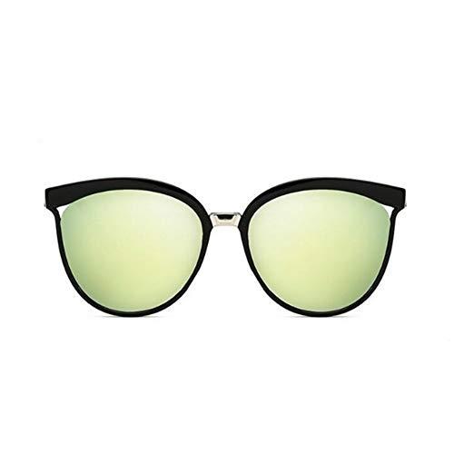 Klassische Einfache Cat Eye Sonnenbrille Frauen Luxus Kunststoff Sonnenbrille Klassische Retro Uv400 (Lenses Color : Gold Lens)