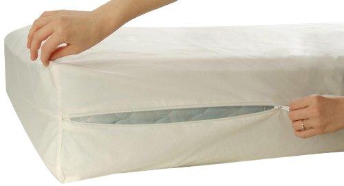 Allersoft Bettwanzen-, Staubmilben- & Allergiekontroll-Matratzenschutzumhüllung aus 100 Prozent Baumwolle, 90 x 200 x 20 cm (Prozent 100 Baumwolle Bettwäsche)
