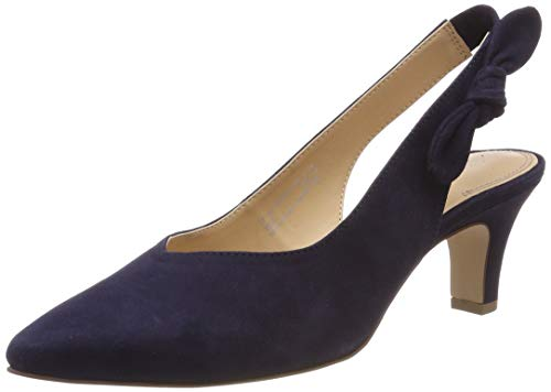 Bugatti Damen 411685733400 Slingback Pumps, Blau (Dark Blue 4100), 38 EU Sling Pumps Schuhe