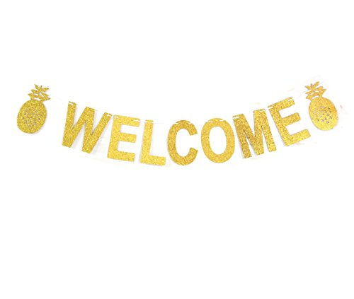 Andgo Welcome Party Banner Pineapples Bunting Wedding birthday Bunting House home Decorations Garland photo Booth Props Bachelorette Party Supplies (Bachelorette Party Supply)