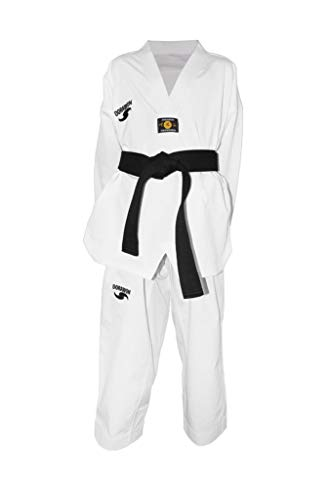 6c2175a67e6e2 Dorawon Luxury - Colletto Bianco Dobok Uniforme per Taekwondo