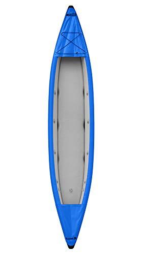 LIDAUTO Kayak Inflable Bote Inflable de Fondo Cepillado Barco de Pesca Red 2 Personas,Blue
