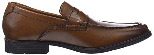 Clarks Tilden Way, Mocassini Uomo Marrone (Tan Leather)