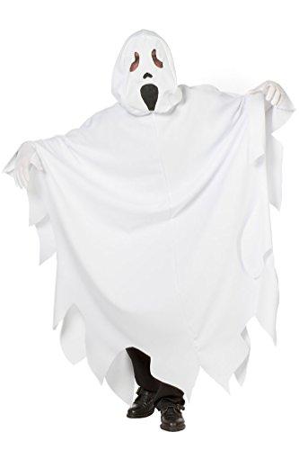 eist Kostüm Herren Halloween Geister Kostüm Erwachsene Gespenst Kostüm weiß Herren-kostüm Größe 60 ()