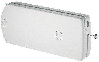 Klappenbeschlag Möbel Klappenhalter mit Seilzug | Modell B - 60 N | Abdeckkappen: weiß | Seilzug-Beschlag für Klappengewicht bis max. 9 kg | Möbelbeschläge von GedoTec®