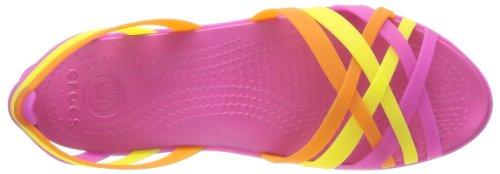 Crocs Huarache Flat Women, Ballerines femme Rose (Fuchsia/Grapefruit)