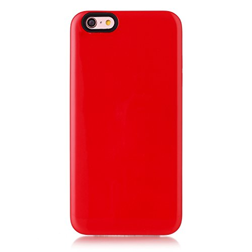 Case Cover IPhone 6s Inoltre, la calotta di protezione solido di colore posteriore dura di plastica per Apple IPhone 6s più ( Color : Purple , Size : IPhone 6s Plus ) Red