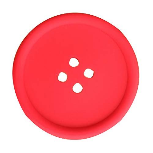 Gankmachine Multi Farben-Silikon-Runde Kreis-Isolierung Durable Flexible Cup Pads Topflappen Löffelhalter