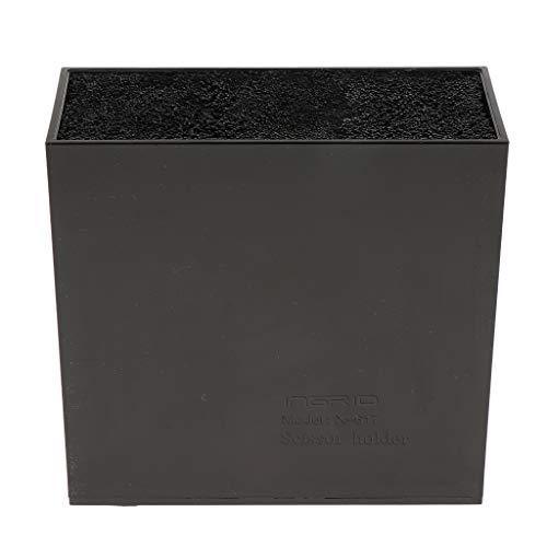 IPOTCH Organiseur Étui De Support Ciseaux Organisateur en Acrylique Rangement Stockage Accessoire de Salon Coiffure - Noir