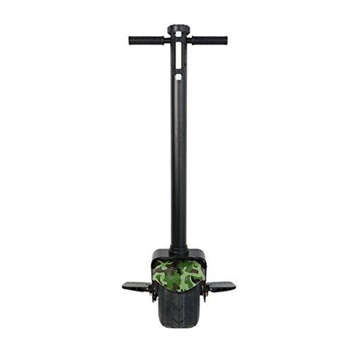 "GREATY Monociclo Eléctrico, 10"" 800W con Manejar con Función de App, 25 km/h Self Balancing Unicycle, Gyroroue Unisex para Adulto,Green"