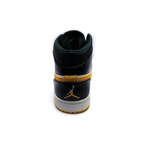 Nike Air Jordan 1 Mid Basketballschuhe Sneaker verschiedene Farben White-Black/Green/Yellow