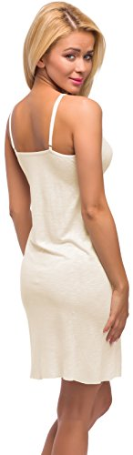 Merry Style Damen Nachthemd Modell 975 Ecru
