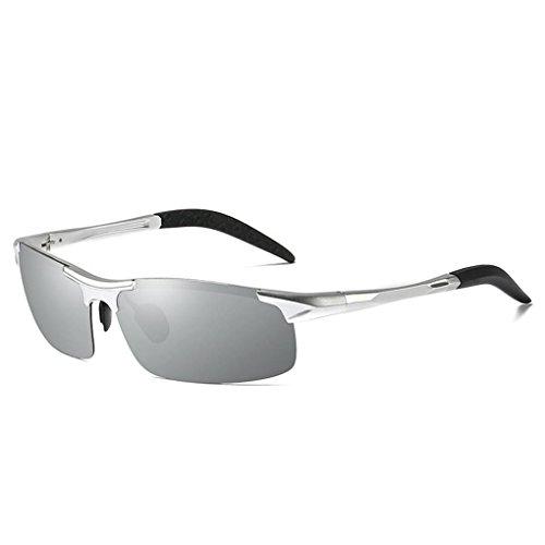 Meisijia Coolsir UV400 Schutz Al-Mg-Feld-Männer Sunglass polarisierten Quadratische Brillen Outdoor-Brillen Reitglas