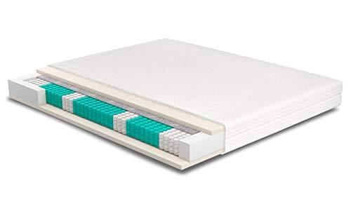 AS Meister SERA H4 TFK-HR45 Basic Matratze 215x180 cm 7-Zonen Tonnentaschen 500 F/m² Federkernmatratze 23cm