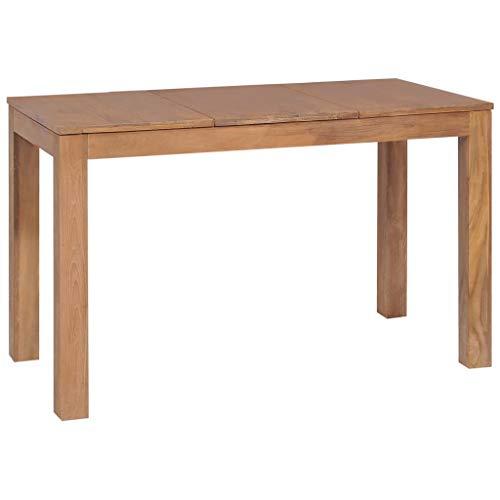 Festnight Esstisch Massivholz Teak Esszimmer Esstisch Holztisch Essgruppe mit natürlichem Finish
