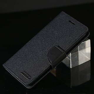 Luxury Mercury Magnetic Lock Diary Wallet Style Flip Cover Case for Samsung Galaxy On7 Pro (Black)