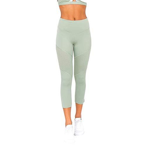 Sport Leggins Für Damen,Fitness Hosen Damen 3/4,Yoga Hosen High Waist,Jogginghose Streetwear Patchwork,Training Hose,Sporthose Tight Leggings,Sweathose,Classics Stretch Workout URIBAKY -