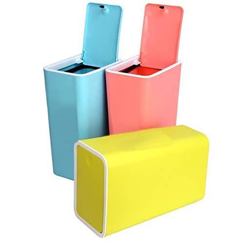 Poubelle- Poubelle 3 paquets Material Matière plastique ABS avec couvercle Cerceau Poubelle de recyclage pressée à la main pour déchets adaptée à la cuisine