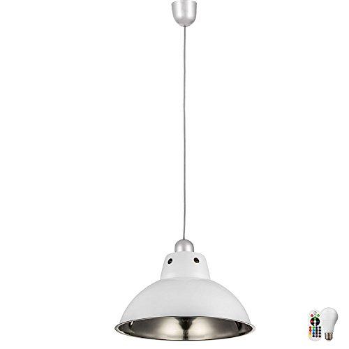 Pendel Leuchte Fernbedienung Ess Zimmer Edelstahl Dimmer Lampe im Set inkl. RGB LED Leuchtmittel (Industrie-stil Esszimmer-sets)