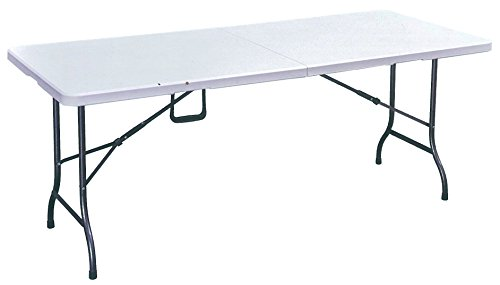 tavolo tavolino pieghevole xl richiudibile resina + valig sagre fiere 244x76x74h